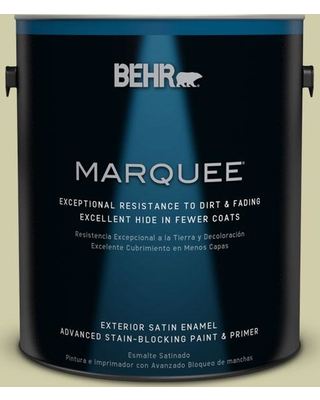 BEHR MARQUEE 1 gal. #S340-4 Back to Nature Satin Enamel Exterior Paint and Primer in One