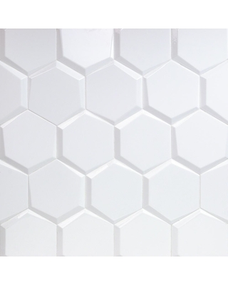 Ivy Hill Tile Bethlehem Hexagon White 5.9 in. x 6.96 in. x 8mm Polished Ceramic Wall Tile (25 pieces / 5.4 sq. ft. / box), Polished White