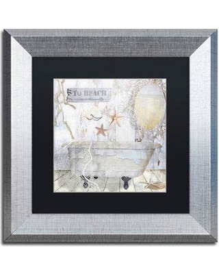 """Trademark Art 'Beach House I' by Color Bakery Framed Graphic Art ALI4797-S1 Matte Color: Black Size: 16"""" H x 16"""" W x 0.5"""" D"""