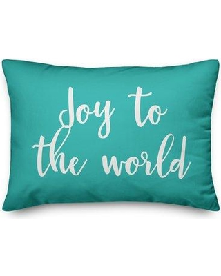 Savings On The Holiday Aisle Leola Joy To The World Lumbar Pillow Polyester Polyfill Polyester Polyester Blend In Teal Size 14x20 Wayfair