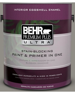 BEHR Premium Plus Ultra 1 gal. #PPU24-08 Parador Stone Eggshell Enamel Interior Paint and Primer in One