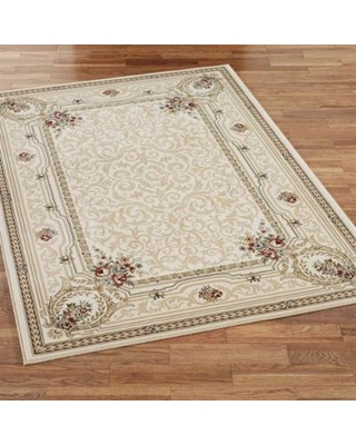 "Imogene Garden Rectangle Rug, 5'3"" x 7'7"", Ivory"