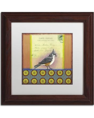 "Trademark Art Small Bird 234' Rachel Paxton Framed Painting Print on Canvas ALI2487-W1111MF / ALI2487-W1616MF Size: 11"" H x 11"" W x 0.5"" D"