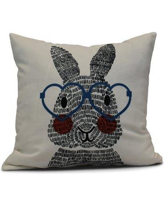 """Viv + Rae Nona What's Up Bunny? Throw Pillow VVRO5025 Size: 26"""" H x 26"""" W Color: Blue"""