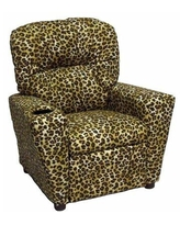 Brazil Furniture Home Theater Children's Cotton Recliner with Cup Holder 401C Color: Amazon Sand