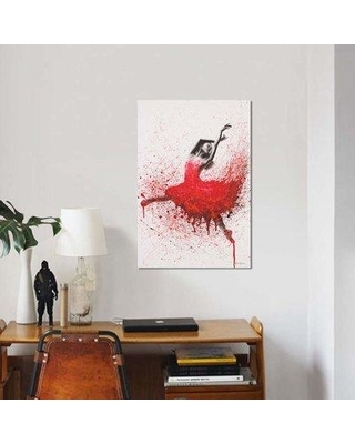 """East Urban Home 'Passionate Love' Graphic Art Print on Canvas EBHR3871 Size: 12"""" H x 8"""" W x 0.75"""" D"""