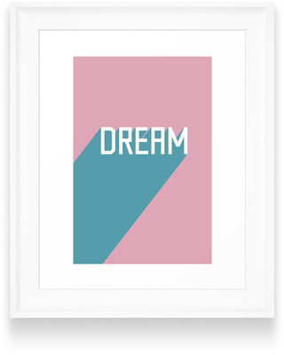Deny Designs Dream Art Print, Size One Size - Pink