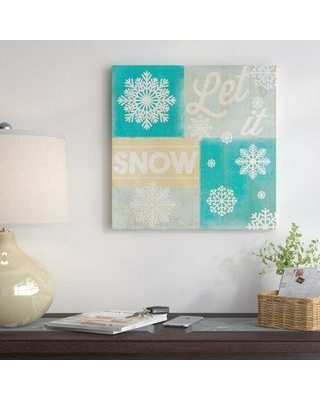 Amazing Deal On East Urban Home Hoping For A Snow Day Vintage Advertisement On Wrapped Canvas Canvas Fabric In Brown Blue Gray Size 12 H X 12 W X 1 5 D