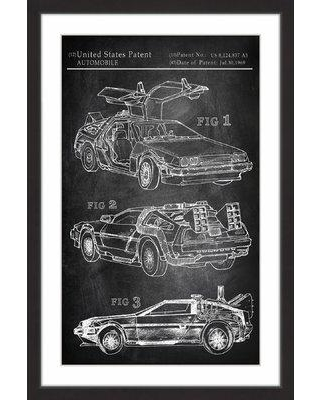 "Marmont Hill 'Back to the Future Car' Framed Painting Print MH-JULCAR-61-BFP- Size: 30"" H x 20"" W x 1.5"" D"