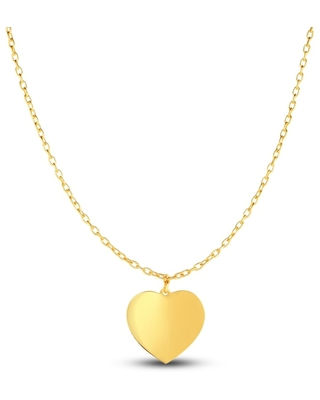 Jared The Galleria Of Jewelry Heart Choker Necklace 14K Yellow Gold