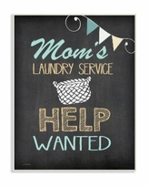 """Stupell Industries Mom's Laundry Service Help Wanted Wall Plaque Art, 10"""" x 15"""" - Multi"""