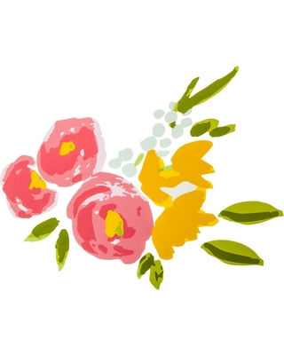 Deals On Wall Decal Floral 9pc Cloud Island Pink