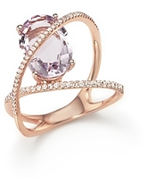 Amethyst and Diamond Statement Ring in 14K Rose Gold - 100% Exclusive