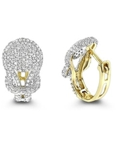 Luxurman 14k Gold Diamond 3/4ct TDW Love Knot Hoop Earrings (Yellow)