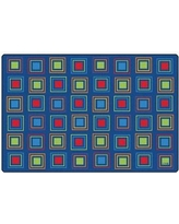 Carpets for Kids Premium Collection Primary Squares Blue Seating Area Rug 411 Rug Size: 6' x 9'