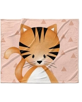Isabelle & Max Lenard Kitten Triangle Ultra Soft Baby Blanket W001681300 Color: Soft Coral