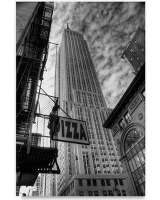 """Trademark Fine Art 'Empire State' Photographic Print on Wrapped Canvas ALI20663-C Size: 32"""" H x 22"""" W"""