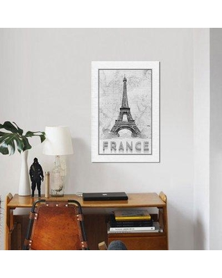 "East Urban Home 'Travel France' Graphic Art Print on Canvas ESUI2210 Size: 26"" H x 18"" W x 1.5"" D"