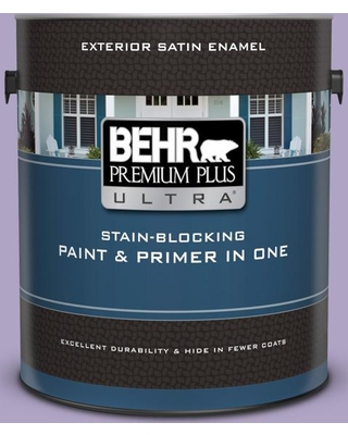 BEHR ULTRA 1 gal. #650D-4 Winter Amethyst Satin Enamel Exterior Paint and Primer in One