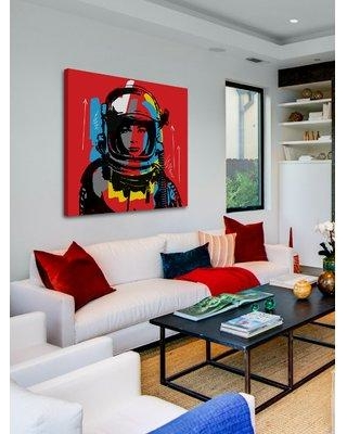 Marmont Hill 'Astro Ii' by Josh Ruggs Painting Print on Wrapped Canvas MH-JRUG-52500-C- Size: 18x18