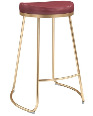 Phenomenal Zuo Modern Contemporary Zuo Modern Contemporary Bree 26 2 In Burgundy Counter Stool Set Of 2 Red From Home Depot Real Simple Creativecarmelina Interior Chair Design Creativecarmelinacom