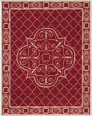 Safavieh Easy Care Maroon/Gold (Red/Gold) 8 ft. x 10 ft. Area Rug
