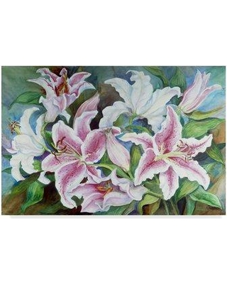 """Trademark Art 'Lilies of the Field' Acrylic Painting Print on Wrapped Canvas ALI30429-CGG Size: 30"""" H x 47"""" W x 2"""" D"""