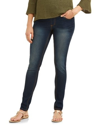 Maternity Oh! Mamma Skinny Jeans with Full Panel - Available in Plus Sizes