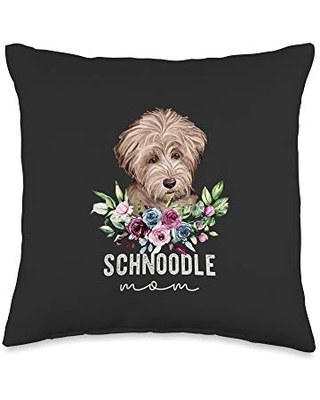 Schnoodle Gifts Accessories Schnoodle Gifts Dog Mom Throw Pillow, 16x16, Multicolor