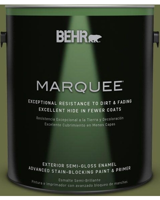 BEHR MARQUEE 1 gal. #MQ6-62 Coconut Grove Semi-Gloss Enamel Exterior Paint and Primer in One