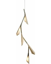 """Hubbardton Forge Quill 46 1/2""""H LED Gold Linear Pendant"""