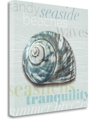 """Tangletown Fine Art 'Beach Collection I' Graphic Art Print on Wrapped Canvas CA318144-2020c Size: 20"""" H x 20"""" W"""