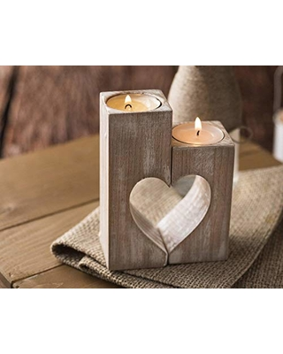 Spectacular Deals on Wood candle holders Valentines Day Gift for ...