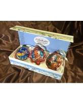The Holiday Aisle 3 Piece Christmas Night Glass Ornaments Set THLY6718