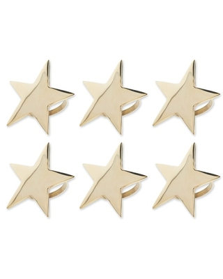DII® Gold Star Napkin Rings, 6ct. | Michaels®