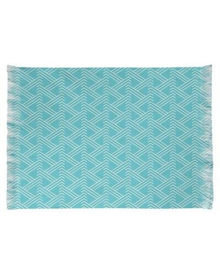 East Urban Home Classic Zig Zag Blue Area Rug W000498961 Non-Skid Pad Included: No