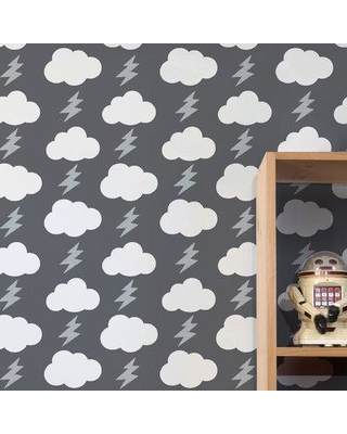 Aimee Wilder Designs Diorama 15' x 27'' Rainbolts Wallpaper (Set of 2) WRB Color: Stormy
