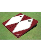 All American Tailgate Matching Diamond Cornhole Board PT-27 Color: White and Maroon