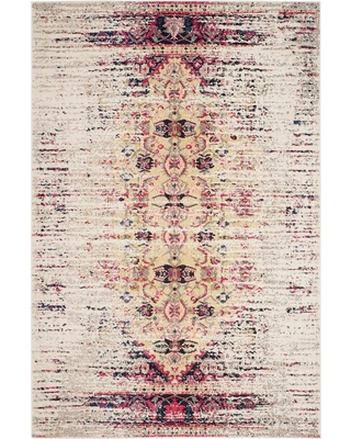 "Ivory/Pink Solid Loomed Area Rug - (6'7""X9'2"") - Safavieh"