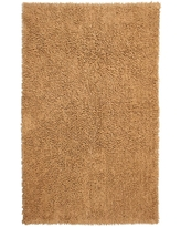 SHAGADELIC Tan Shag Chenille Twist 1 ft. 9 in. x 2 ft. 10 in. Accent Rug