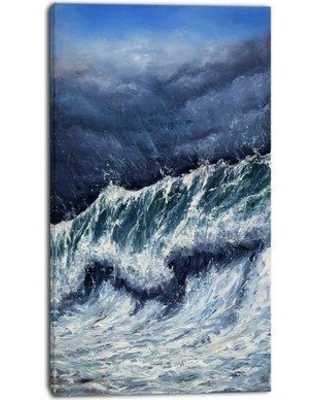 "East Urban Home 'Storm in Ocean' Oil Painting Print on Canvas EAAE7770 Size: 20 "" W x 40 "" H"
