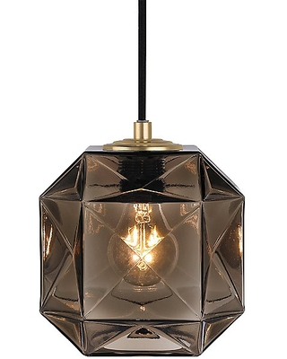 Mimo Cube Pendant Light by Oggetti Luce - Color: White - Finish: Gunmetal - (28-MM/CUB/WH/G)