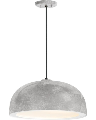 Troy RLM Dome 16 in. Shade 1-Light Galvanized Finish Pendant