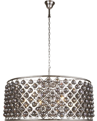 Madison 10 light polished Nickel ChandelierSilver Shade (Grey) Royal - One Size (One Size - Clear)