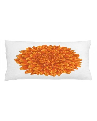 "Dahlia Flower Indoor / Outdoor Lumbar Pillow Cover East Urban Home Size: 16"" x 36"""