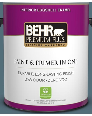 BEHR Premium Plus 1 gal. #N480-6 Nypd Eggshell Enamel Low Odor Interior Paint and Primer in One