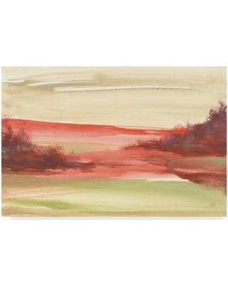 """East Urban Home 'Red Rock IV' Watercolor Painting Print on Wrapped Canvas W001102197 Size: 22"""" H x 32"""" W x 2"""" D"""