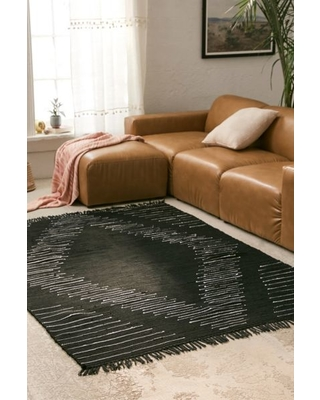 Wyatt Woven Rug - Grey 6 X 9 at Urban Outfitters