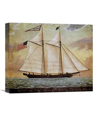 """Global Gallery The Schooner Whig Painting Print on Wrapped Canvas GCS-267633 Size: 24.99"""" H x 30"""" W x 1.5"""" D"""