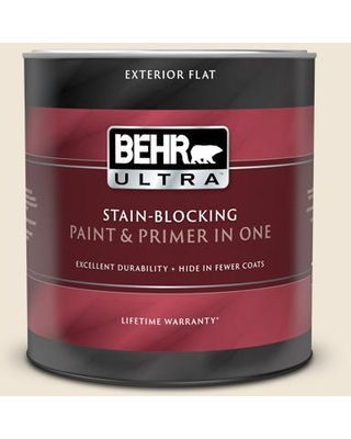 BEHR ULTRA 1 Qt. #710C-1 Parchment Paper Flat Exterior Paint and Primer in One